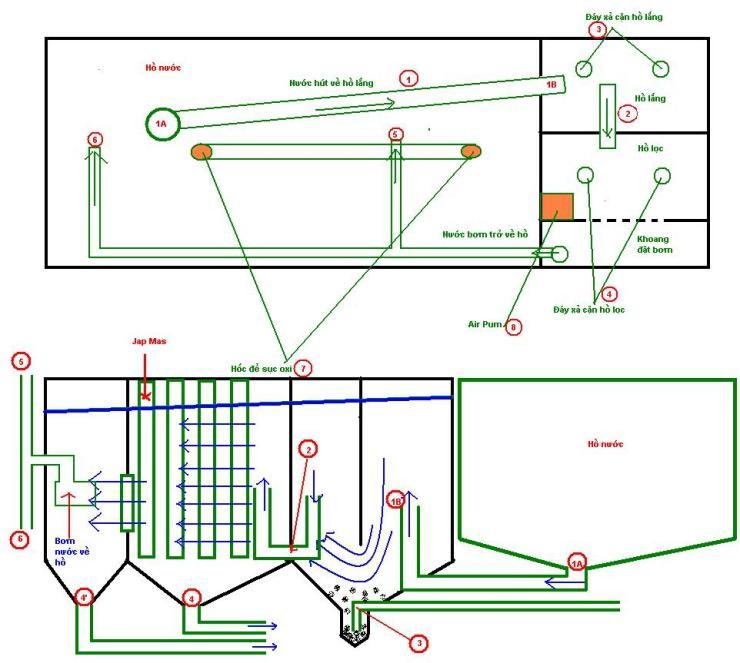 hệ thống lọc hồ cá koi mà nonbo.net.vn áp dụng
